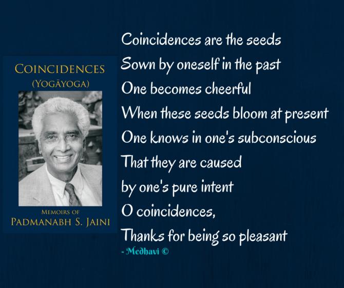 My Review on Dr. Padmanabh Jaini's autobiography 'Coincidences' (Yogãyoga)